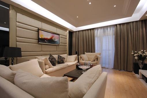 客厅沙发软包挂画墙装修效果图欣赏 图片_hao123网址