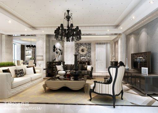 简约欧式复式楼客厅效果图展示 客厅装修效果图欣赏 吊顶