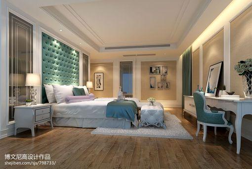 欧式别墅卧室软包背景墙效果图
