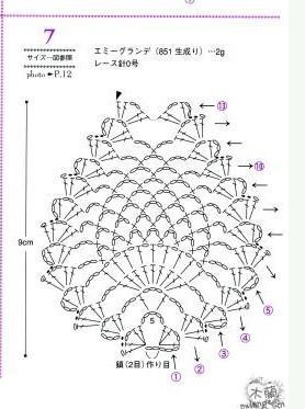 仿欧时力399元菠萝花围巾(说明和参考图解在41楼)